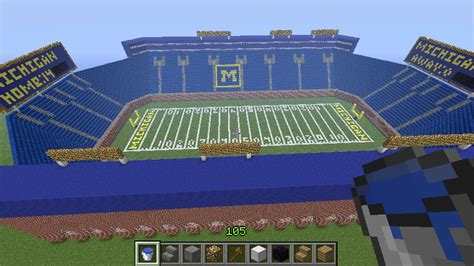 minecraft sports stadium michigan stadium minecraft project