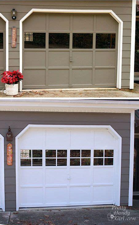 Adding Windows To Garage Door Diy - adding grilles to garage door windows garage