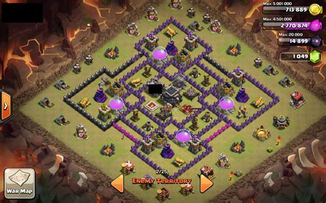 layout coc th 8 untuk war coc base 99 th 9 war base 7