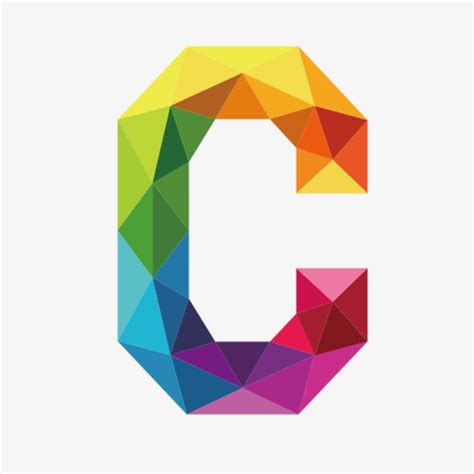 colorful letters colorful letters c letter c colorful png image and