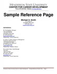 how to make reference page for resume sles of resumes