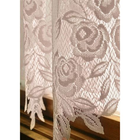 rose lace curtains heritage lace tea rose single curtain panel reviews