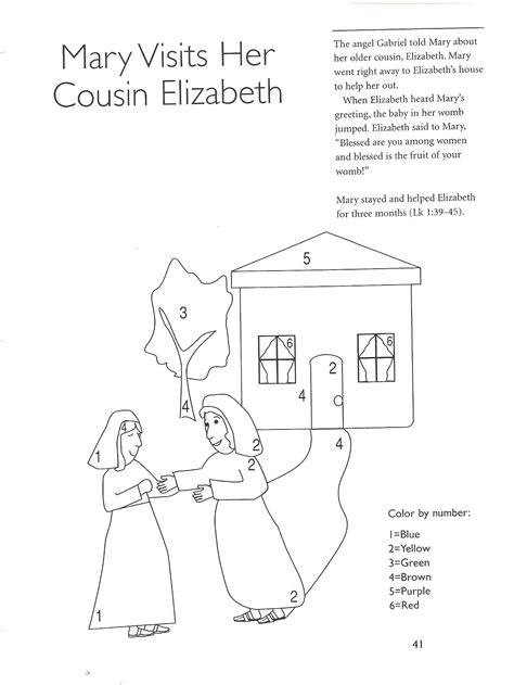 mary and elizabeth bible crafts
