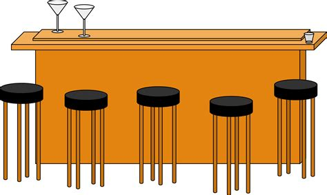 Bar Clipart Free clipart bar with stools