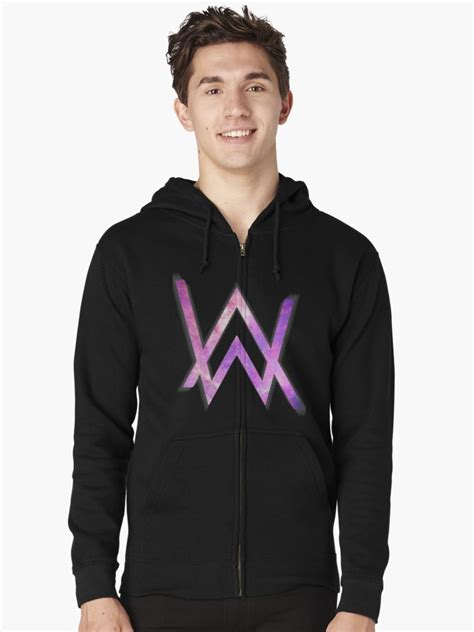 alan walker colors quot alan walker logo quot zipped hoodie by taplome redbubble