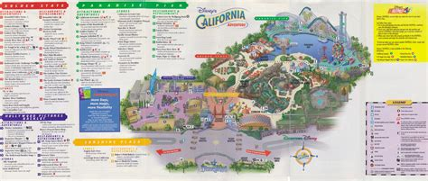 disney california adventure map disney ephemera 2001 disney s california adventure guide map touringplans