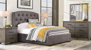 plains gray 5 pc upholstered bedroom