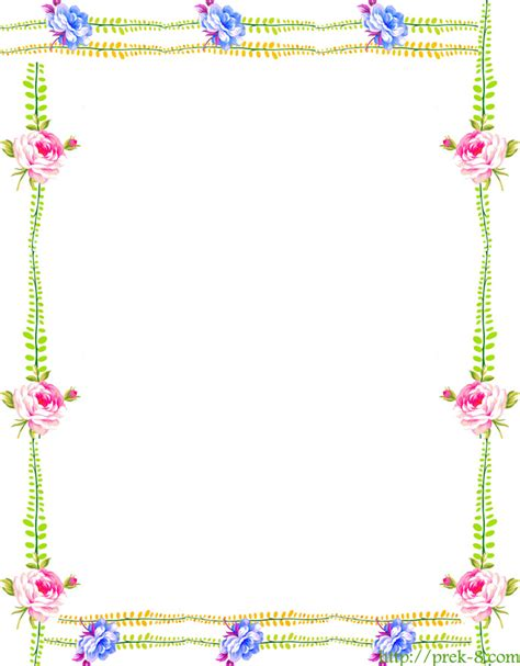 printable paper with flower border flower borders free cliparts co