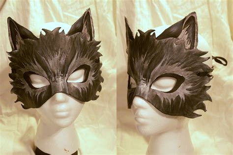 How To Make A Wolf Mask Out Of Paper - leather wolf mask by mirabellatook on deviantart