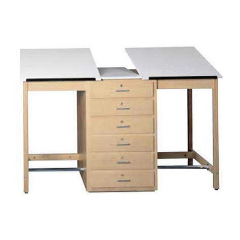 Drafting Table With Drawers Shain Two Station Drafting Table W 6 Drawers 70 Quot W Dt 80a Drafting Tables And Graphic