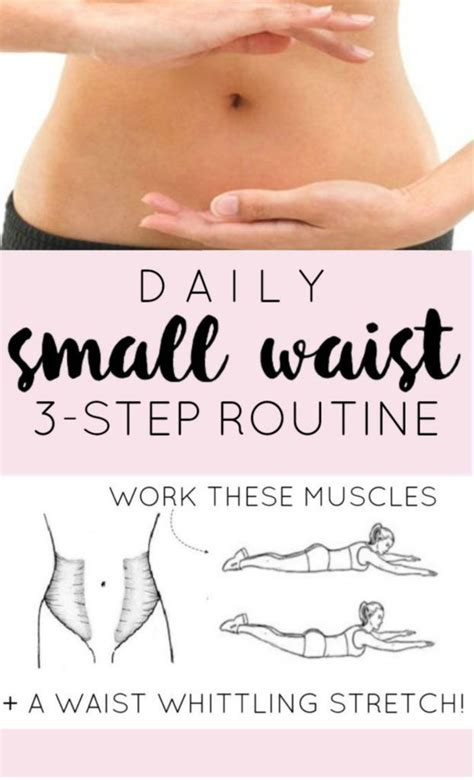 3 step daily small waist workout routine flatter stomach muscles and key