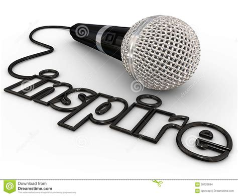 keynote clipart inspire microphone word cord motivational speaker keynote