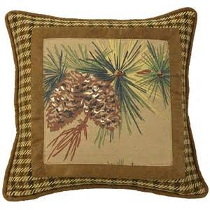 crestwood rustic pine cone pillow