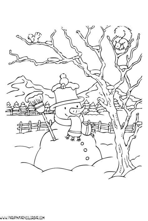 imagenes para colorear vacaciones de invierno dibujos de invierno para colorear 018