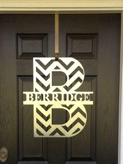 monogram letter for front door best 25 monogram door hangers ideas on letter