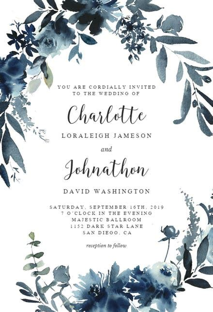 Wedding Invitation Templates (Free)   Greetings Island