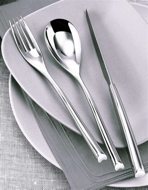 sambonet h art gold 5 piece place setting modern sambonet h art cutlery in stainless at besteckliste
