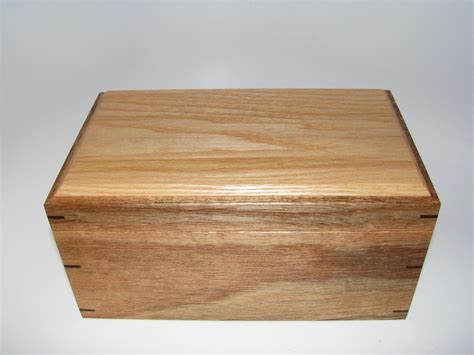 Handcrafted Wooden Boxes - memory box mahogany and ash keepsake box 10 quot x 6