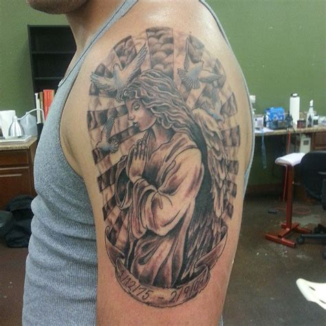 praying angel tattoos for men 50 best designs and ideas