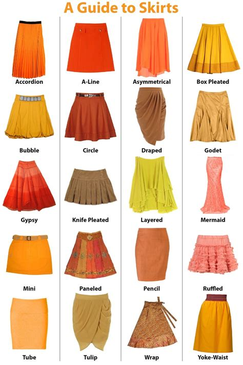 various types of skirts runway fashion tailor