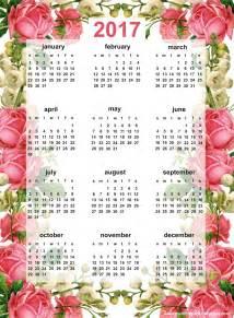 Pinterest 2017 by Free Printable 2017 Rose Calendar Ausdruckbarer Kalender