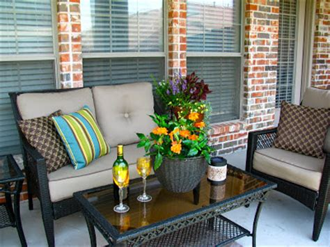 Patio Design Ideas On A Budget Lighting Furniture Design May Days A Small Patio Makeover