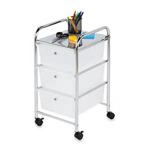 Bathroom Storage Cart Buy Honey Can Do 174 Steel 3 Drawer Rolling Storage Cart From Bed Bath Beyond