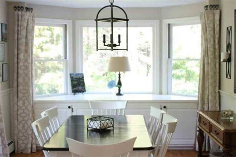 window treatments for bay windows in dining room other dining room bay window treatments throughout