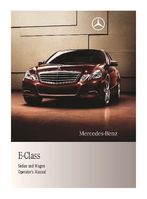 Mercedes E350 Owners Manual by 2011 Mercedes E350 E350 Bluetec E550 E63 Amg W212