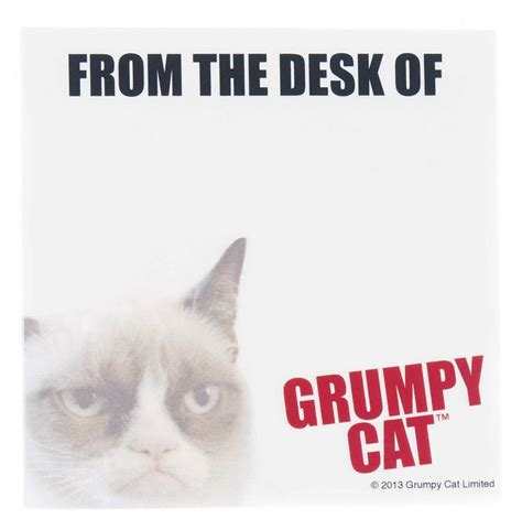 from the desk of sticky notes 22 best images about grumpy cat on pinterest