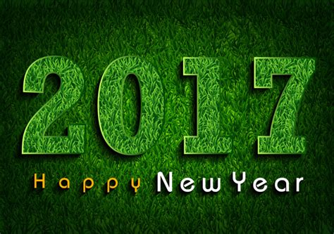 new year green 2017 green grass 3d happy new year free vector in adobe