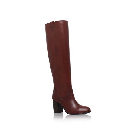 carvela kurt geiger wallace knee high boots in brown lyst