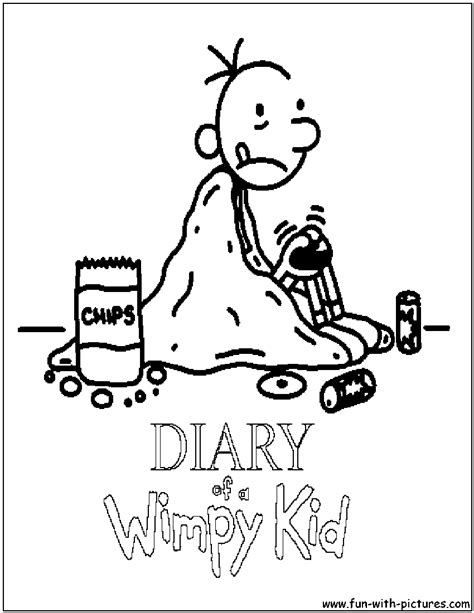free greg diary of a wimpy kid coloring pages
