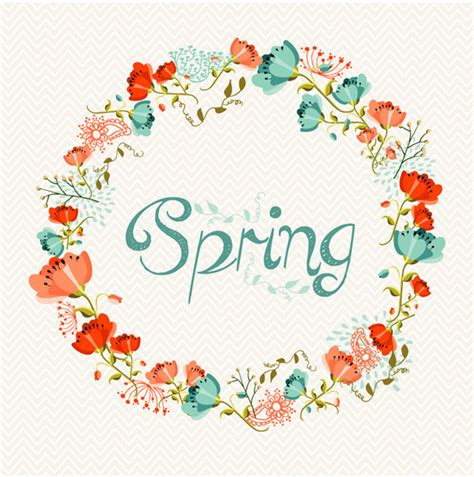 wallpaper bunga lingkaran karangan bunga bunga musim semi vector latar belakang