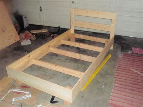 build futon building a platform bed frame with drawers discover