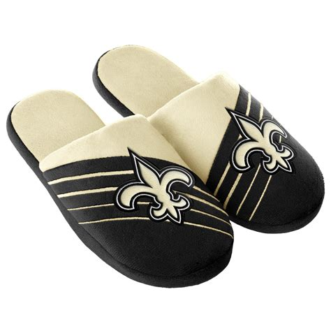 new orleans saints slippers nfl s new orleans saints black gold slippers