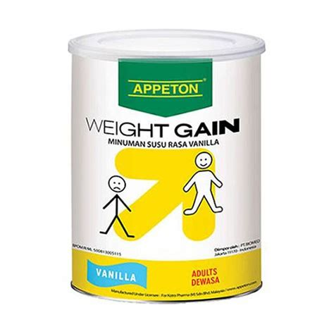 Appeton Weight Gain Alfamart jual appeton weight gain vanilla 450 gr jd id