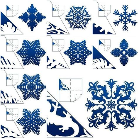 How To Make Pretty Paper Snowflakes - how to make schemes of paper snowflakes step by step diy