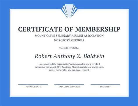 canva membership membership certificate template professional print canva