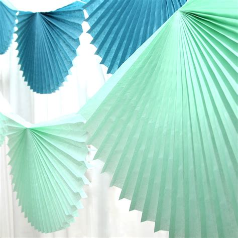 How To Make Paper Bunting Garland - paper fan garland bunting by blossom