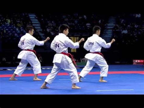 karate male team kata final japan  italy wkf world