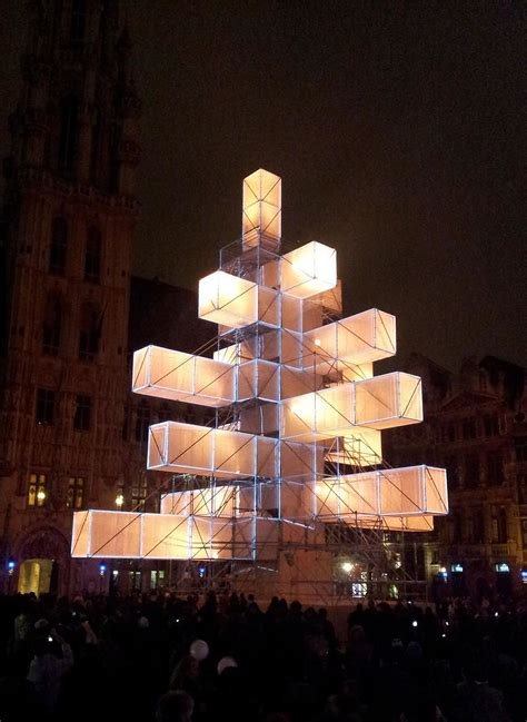 christmas tree light installation in brussels design is
