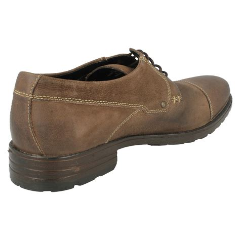mens clarks smart casual lace up shoes denton cap ebay