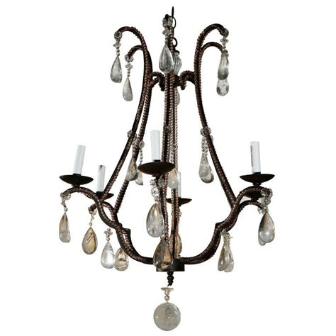 1980 S Rock Crystal Chandelier At 1stdibs Rock Chandeliers