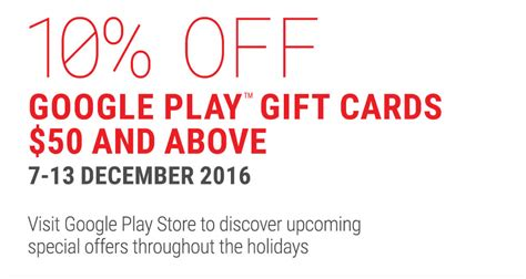 Google Play Gift Card Singapore Online - google play gift cards going at 10 off at 7 eleven from 7 13 dec 2016