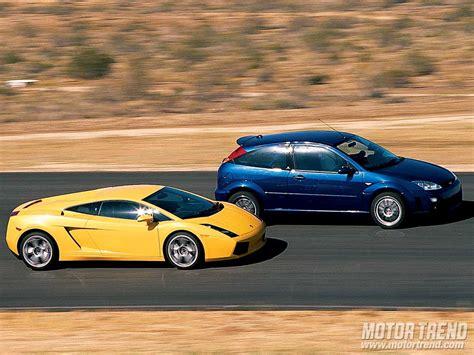Vs Lamborghini Race Ford Racing Focus Rs8 And Lamborghini Gallardo Passenger