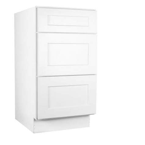 Kitchen Base Cabinets Home Depot Lakewood Cabinets 21x34 5x24 In All Wood 3 Drawer Base Kitchen Cabinet With Shaker In White Painted