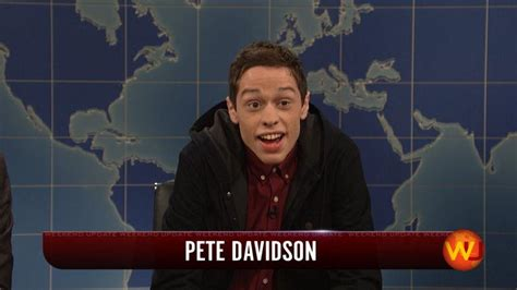pete davidson update snl snl s newest cast member isn t old enough to attend the