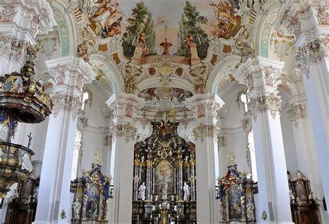 the baroque baroque architecture in central europe german rococo germany pilgrimage church in steinhausen