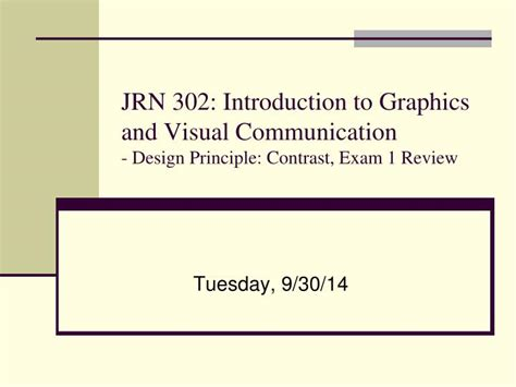 Visual Communication Design Introduction | ppt tuesday 9 30 14 powerpoint presentation id 6713790